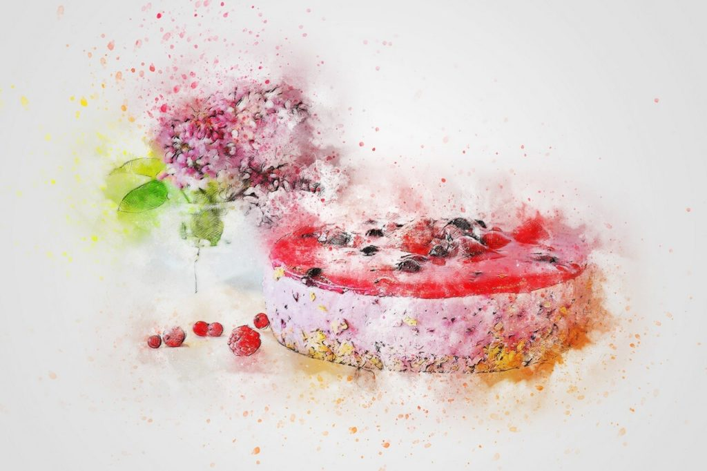 Арт торт на замовлення з вишнями