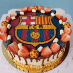 Торт з фотографією футбольного клубу Барселона