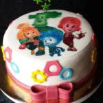 Торт з фотографією Фіксиків