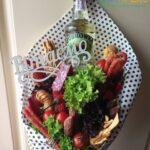 Алкогольний їстівний букет з пляшкою зубровки