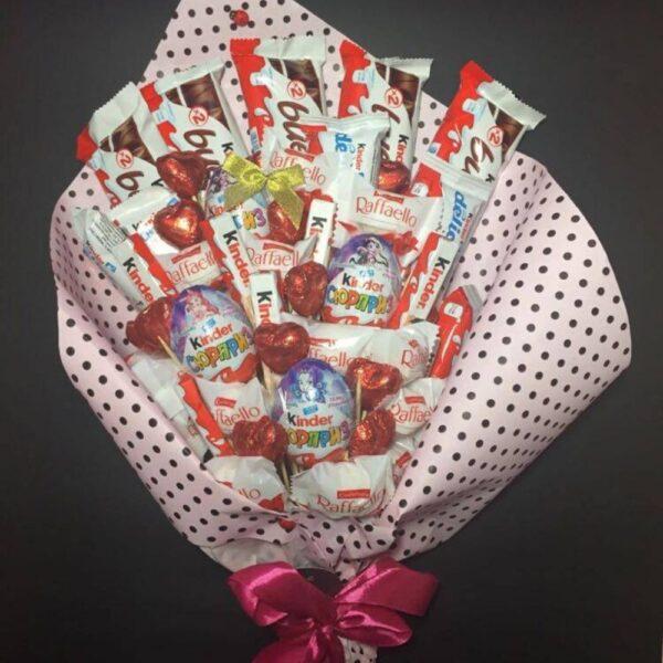 Солодкий їстівний букет з цукерків