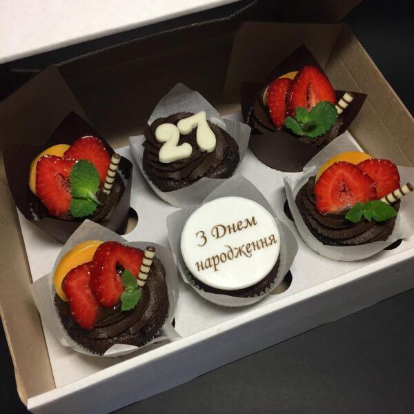 Шоколадні Капкейки на день народження