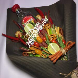 Їстівний чоловічий букет з текілою