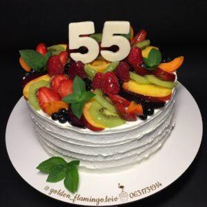 Фруктовий торт на 55 років