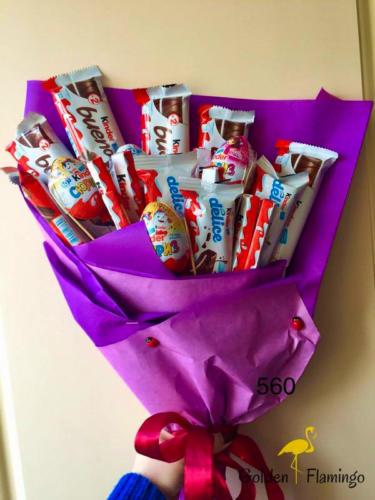 Дитячий букет із солодощів Кіндер