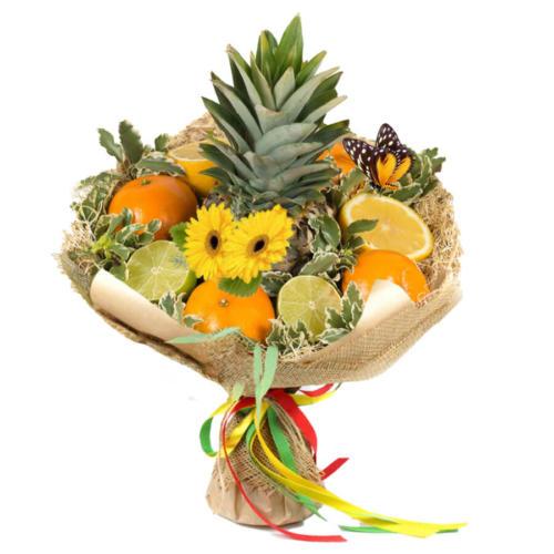 Фруктовий букет з ананасом, лимоном і лаймом